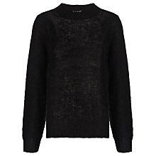 Buy Whistles Corinne Mohair Knitted Jumper, Black Online at johnlewis.com