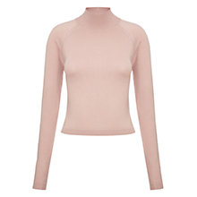 Buy Whistles Ella Cropped Turtle Neck Jumper, Pink Online at johnlewis.com