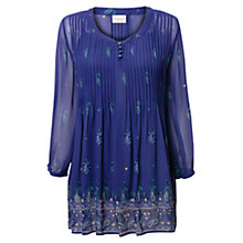 Buy East Alissa Pintuck Blouse, Iris Online at johnlewis.com