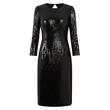 Buy Hobbs Invitation Melanie Dress, Black Online at johnlewis.com