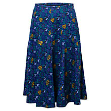 Buy East Ava Print Babycord Skirt, Viola Online at johnlewis.com