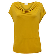 Buy East Cowl Neck Top, Ochre Online at johnlewis.com
