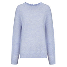 Buy Whistles Textured Marl Boxy Jumper, Pale Blue Online at johnlewis.com