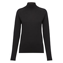 Buy Whistles Ella Turtleneck Top, Black Online at johnlewis.com