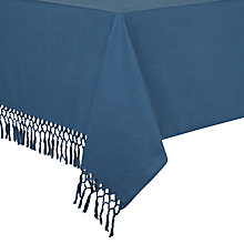Buy John Lewis Croft Collection Tassel Tablecloth, Blue Online at johnlewis.com