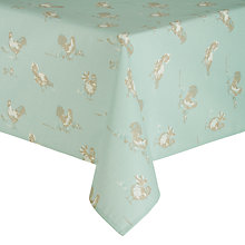 Buy John Lewis Country Hens Wipeclean Tablecloth, Green Online at johnlewis.com