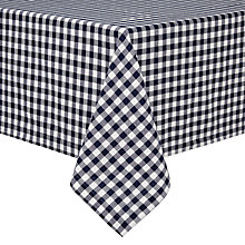 Buy John Lewis Gingham Check Navy Tablecloth Online at johnlewis.com