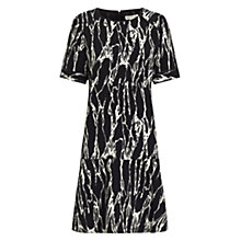 Buy Whistles Simone Marble Print Dress, Black/White Online at johnlewis.com