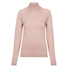 Buy Whistles Ella Turtle Neck Jumper, Pale Pink Online at johnlewis.com