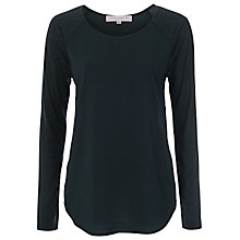 Buy French Connection Polly Plains Raglan Top, Pine Online at johnlewis.com