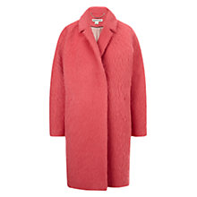 Buy Whistles Ira Textured Coat, Pink Online at johnlewis.com