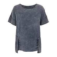 Buy French Connection Industrial Drape Top, Siberian Shadow Online at johnlewis.com