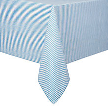 Buy John Lewis Seersucker Tablecloth, Blue Online at johnlewis.com