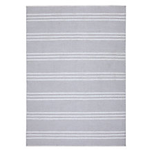 Buy John Lewis Croft 3 Bar Striped Rug, Grey Online at johnlewis.com
