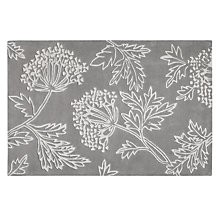 Buy John Lewis Cow Parsley Rug, Grey Online at johnlewis.com
