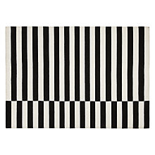 Buy House by John Lewis Chequer Rug, Black/White Online at johnlewis.com