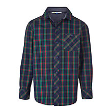 Buy John Lewis Boy Blackwatch Checked Shirt, Navy/Multi Online at johnlewis.com