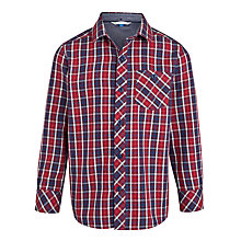 Buy John Lewis Boy Checked Shirt, Red/Blue Online at johnlewis.com