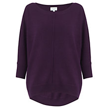 Buy Jigsaw Dropped Hem Jumper, Blackberry Online at johnlewis.com