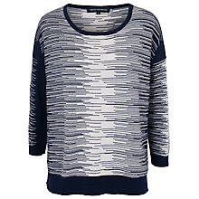 Buy French Connection Daria Jumper, Prussian Blue/Winter White Online at johnlewis.com