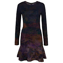 Buy French Connection Ombre Orchard Dress, Dark Multi Online at johnlewis.com