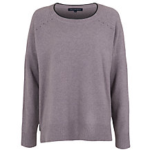 Buy French Connection Autumn Vhari Star Jumper, Grey Otter Online at johnlewis.com