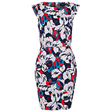 Buy French Connection Lucky Leaves Dress, Prussian Blue/Multi Online at johnlewis.com
