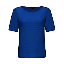 Buy Jaeger Ottoman Jersey T-Shirt, True Blue Online at johnlewis.com