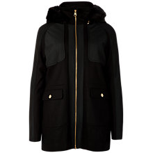Buy Ted Baker Hooded Pocket Jacket, Black Online at johnlewis.com