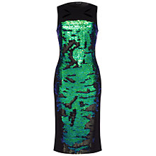 Buy Damsel in a dress Trevano Dress, Black/Green Online at johnlewis.com