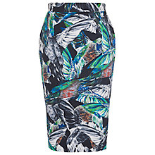 Buy French Connection Calliope Skirt, Black/Daisy White Online at johnlewis.com
