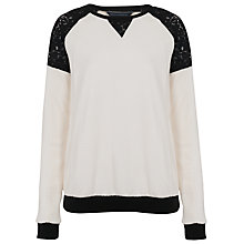 Buy French Connection Martha Sweater, Winter White/Black Online at johnlewis.com
