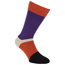 Buy Corgi Colour Block Wool Blend Socks Online at johnlewis.com