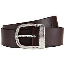 Buy Diesel Bawre Belt, Dark Brown Online at johnlewis.com