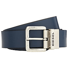 Buy Diesel Beder Reversible Leather Belt Online at johnlewis.com