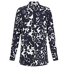 Buy John Lewis Capsule Collection Print Linen Shirt, Navy/White Online at johnlewis.com