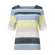 Buy Kin by John Lewis Striped Square Neck Top, Multi Online at johnlewis.com