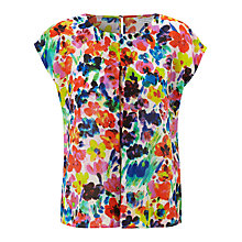 Buy COLLECTION by John Lewis Laura Floral Silk Top, Multi Online at johnlewis.com