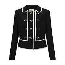 Buy Somerset by Alice Temperley Contrast Trim Jacket, Black/Cream Online at johnlewis.com