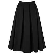Buy COLLECTION by John Lewis Amalia Cotton Pique Skirt, Black Online at johnlewis.com