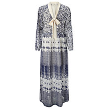 Buy Somerset by Alice Temperley Tie Waist Tile Maxi Dress, Blue Online at johnlewis.com