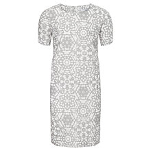 Buy John Lewis Capsule Collection Mosaic Linen Dress, Dove/White Online at johnlewis.com