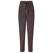Buy Somerset by Alice Temperley Relax Boat Print Trousers, Black/Cream Online at johnlewis.com
