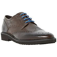 Buy Dune Bafta Wingtip Brogue Shoes, Brown Online at johnlewis.com
