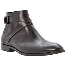 Buy Dune Montana Buckle Boots, Black Online at johnlewis.com
