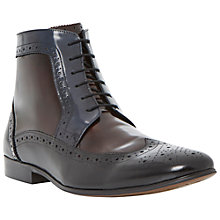 Buy Dune Minister Leather Ankle Brogue Boots Online at johnlewis.com
