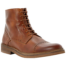 Buy Dune Chino Toecap Leather Lace-Up Boots, Tan Online at johnlewis.com