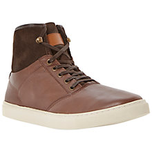 Buy Dune Supreme Leather Hi-Top Trainers Online at johnlewis.com