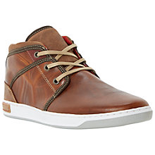 Buy Dune Simone Plain Toe Hi Top Shoes, Tan Online at johnlewis.com
