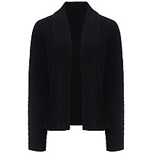 Buy Jaeger Boucle Tipped Chuck On Jacket, Black Online at johnlewis.com
